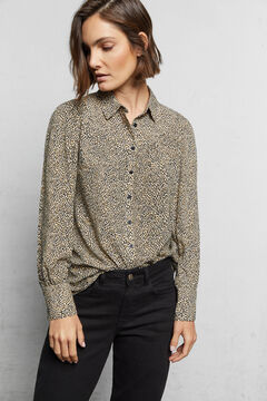 Cortefiel Camisa tecido sustentável Marrom