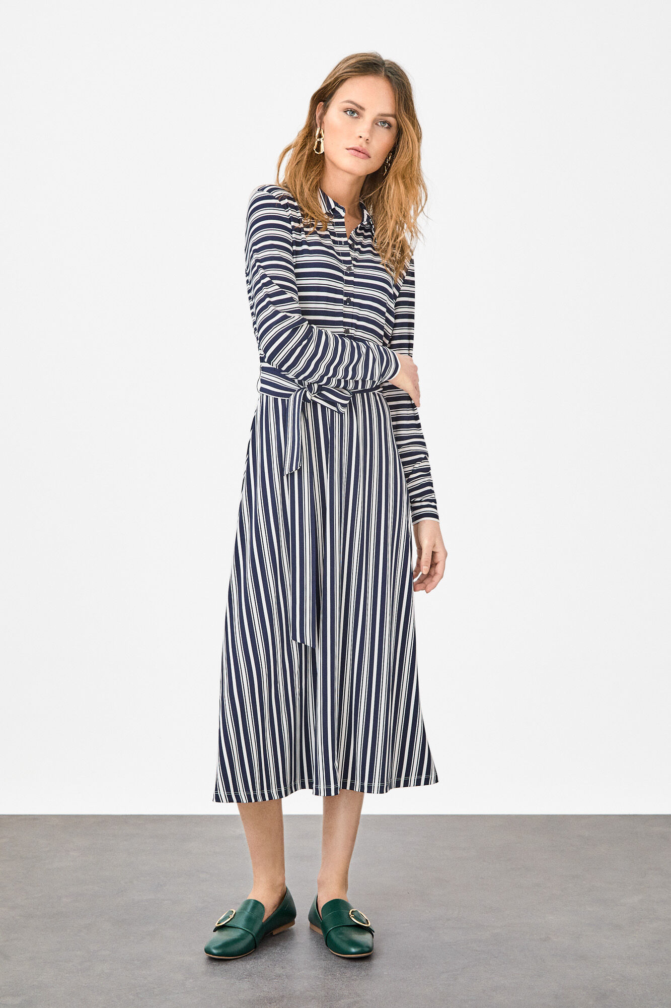 839a1e01291 Stripe-printed dress