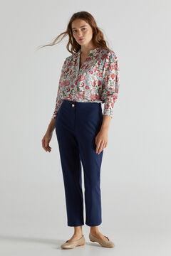 Cortefiel Suit trousers Navy