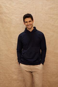 Cortefiel Hooded sweatshirt Navy