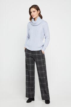 Cortefiel Super comfort fabric culottes Gray