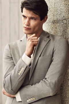 Cortefiel Coolmax® jersey-knit blazer Camel