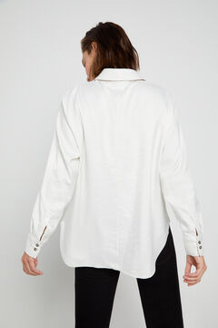 Cortefiel Wrinkle detail shirt White