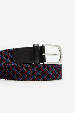 Cortefiel Woven fabric belt Black