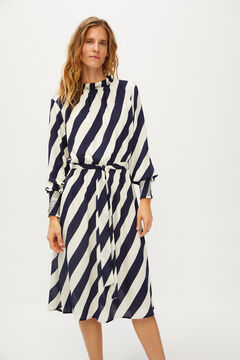 Cortefiel Sailor stripes dress Blue