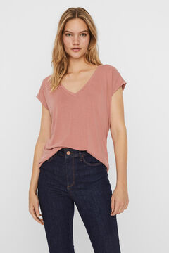Cortefiel Flowing T-shirt Pink
