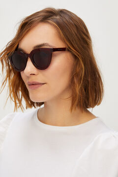 Cortefiel BLACK HAYES  sunglasses Red garnet