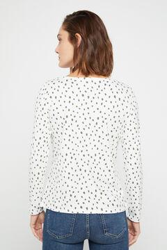 Cortefiel Boat neck t-shirt Ecru