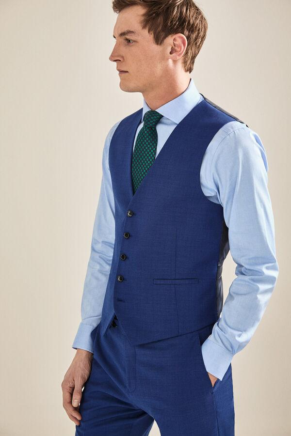 be352f5311512 Cortefiel Chaleco traje slim fit Azul