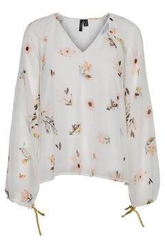 Cortefiel Floral blouse White