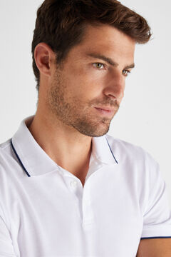 Cortefiel Essential short-sleeved polo shirt White
