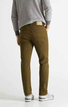 Cortefiel Regular fit 5-pocket coloured COOLMAX® ECOMADE ALL SEASON trousers Green