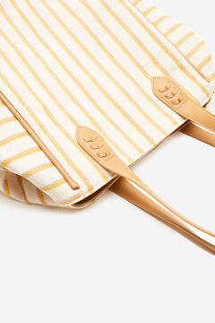 Cortefiel Rustic fabric shopper bag Beige