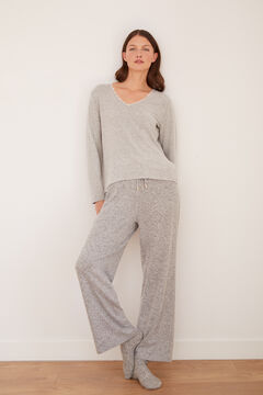 Cortefiel Soft feel wide leg trousers Gray