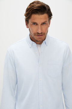 Cortefiel Long-sleeved shirt Light blue