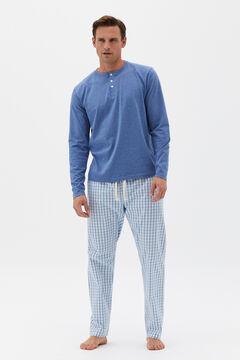 Cortefiel Jersey-knit and cotton pyjamas Stone