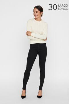 Cortefiel Mid rise cigarette fit jeans Black