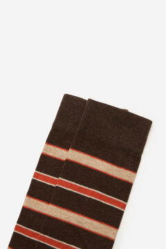 Cortefiel Multistripe socks Dark brown