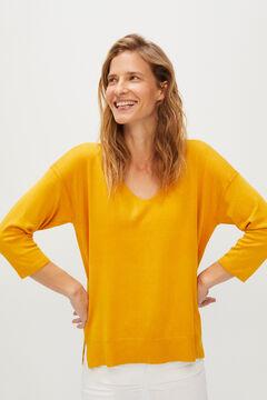 Cortefiel V-neck jumper Yellow