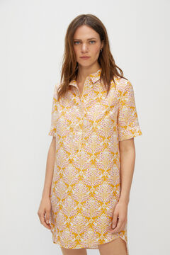 Cortefiel Comfort shirt with tabs Yellow
