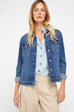 Cortefiel Sustainable wash denim jacket Royal blue