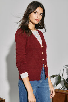 Cortefiel Sustainable jacket with embroidery Red