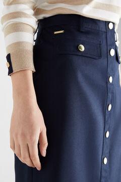 Cortefiel Falda de piqué Azul