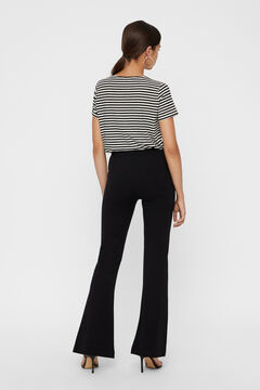 Cortefiel Bell-bottom trousers Black