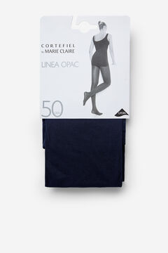 Cortefiel Opac 50D Tights Navy