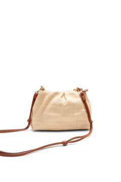 Cortefiel Raffia crossbody bag Brown