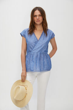 Cortefiel Embroidered body Blue