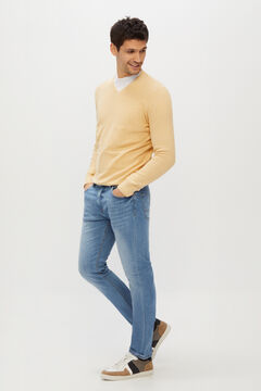 Cortefiel Slim dynamic light wash jeans  Blue