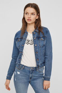 Cortefiel Organic cotton denim jacket Royal blue