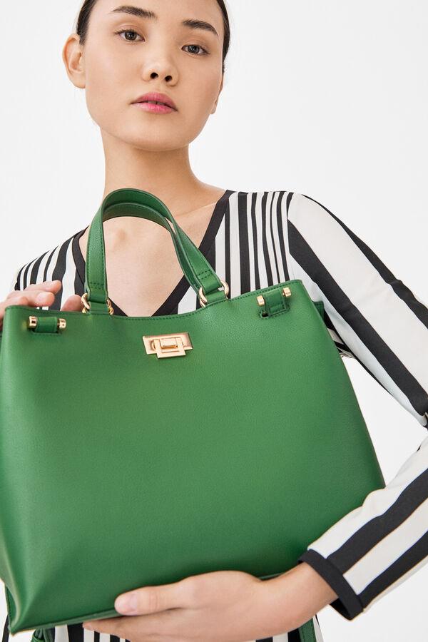 ccb3b550b6 Cortefiel Shopper bag Dark green