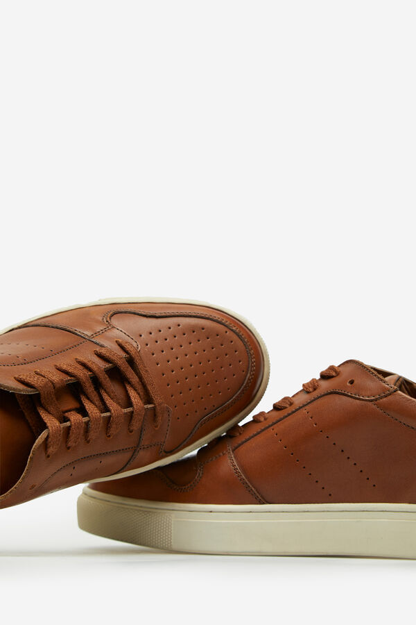 298b6a2c0d Cortefiel Sneaker piel piso goma Marrón. Comprar