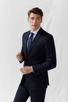 Cortefiel Plain tailored fit COOLMAX® blazer Navy