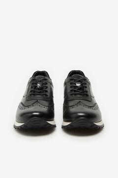 Cortefiel Rubber sole urban sneaker Black