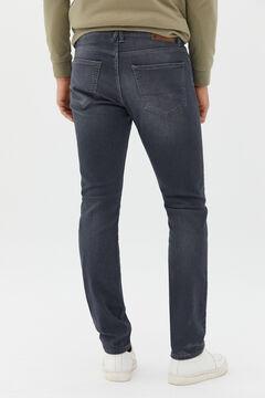 Cortefiel Slim fit grey jersey-knit jeans Gray