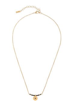 Cortefiel Collar corto CIAM - Negro - Oro Amarillo