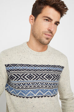 Cortefiel Crew neck jumper Brown