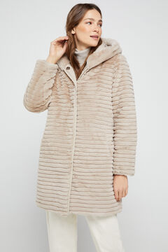 Cortefiel Long reversible coat Ecru