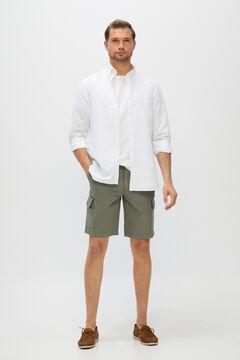 Cortefiel Cargo style colour Bermuda shorts Green
