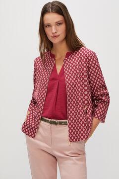 Cortefiel Suede bomber jacket Natural