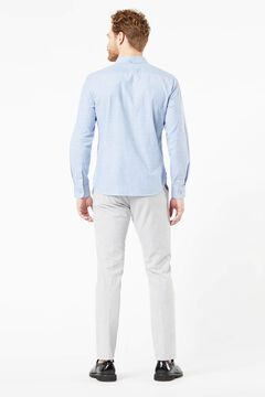 Cortefiel Slim fit Dockers® Oxford shirt with Supreme Flex™ Blue