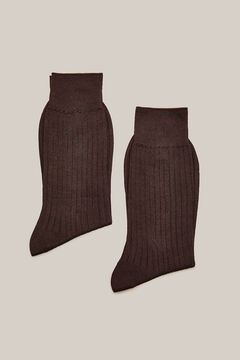 Cortefiel Cotton dress socks pack Dark brown
