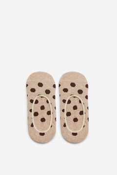 Cortefiel Polka-dot pinkie socks Stone