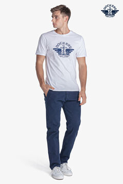 Cortefiel Short-sleeved Dockers® T-shirt with central logo White