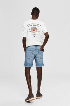 Cortefiel Calções jeans Azul