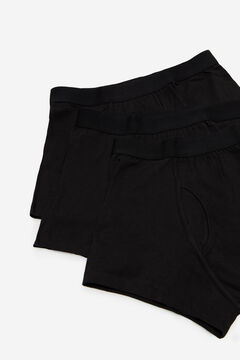 Cortefiel 3-pack jersey-knit boxers Black