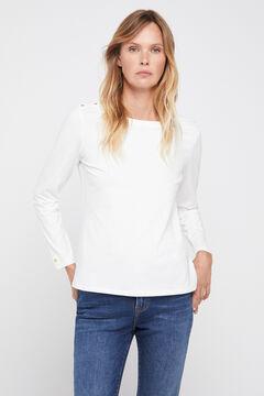 Cortefiel Boat neck t-shirt White
